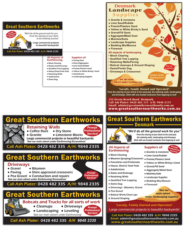 Great Southern Earthworks Print Material