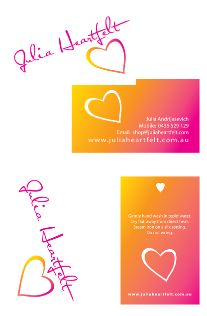 Julia Heartfelt Business Cards and Swing Tags