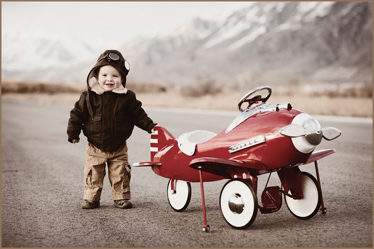 Child with Red Plane