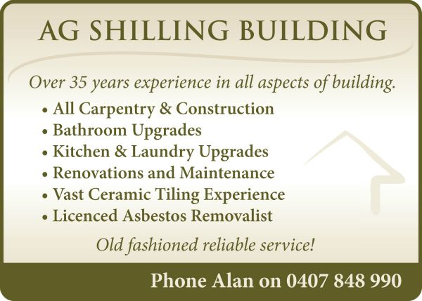 AG Shilling Building Advert