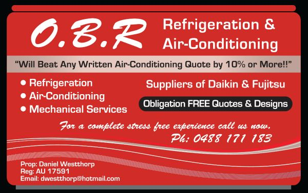 Ocean Beach Refrigeration Advert
