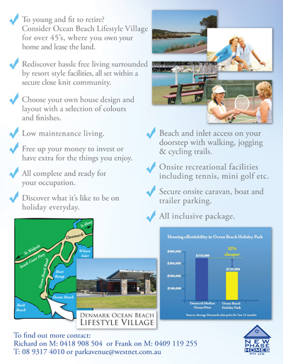 Denmark Lifestyle Village Flyer Back
