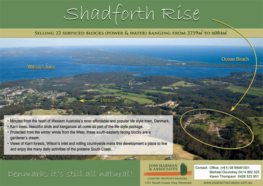 Shadforth Rise Flyer Front